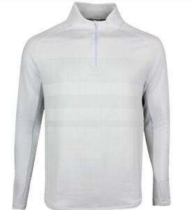 NIKE Men's Golf White Gray 1/4 Zip Dri Fit Pullover BV0390-100 SMALL $110