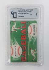 1954 BOWMAN 1ST SERIES BASEBALL UNOPENED WAX PACK GRADED 7