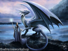 ANNE STOKES NEW HORIZON DRAGON - 3D CULT FANTASY PICTURE 400mm x 300mm