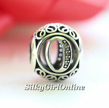 Authentic Pandora Sterling Silver Vintage O Clear CZ Bead 791859CZ