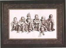 "African American Black Art Print ""STOOP SITTIN"" by Rob Wilson"