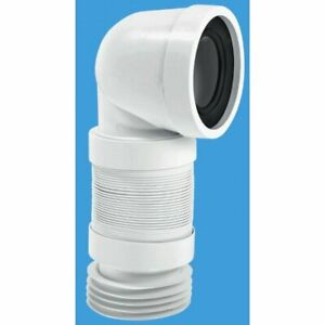 McAlpine Long 90° Back To Wall Bent Flexi WC With Securing Clip WC-CON8F