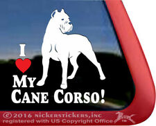I Love My Cane Corso Dog Decal - Cropped