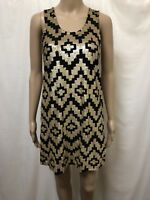 Sass & Bide Dress Womens ~ Size Small ~ Great Cond Playman w/ Sequins Geometric