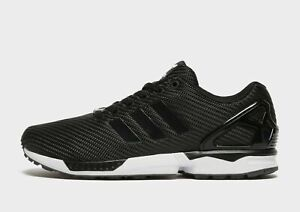 Adidas ZX Flux Mens Trainers Shoes Black White