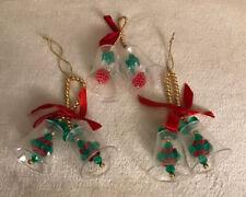 VINTAGE Christmas Ornaments BELLS, 3 pcs.