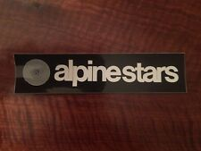 ALPINE STAR STICKER CLASSIC VINTAGE 170X 40MM BLACK