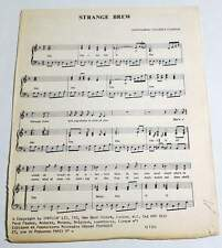 Partition vintage sheet music CREAM : Strange Brew * 60's Eric CLAPTON