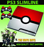 Playstation 3 Slimline Console Sticker Skin POKEBALL POKEMON GO & 2 X Pad Skins