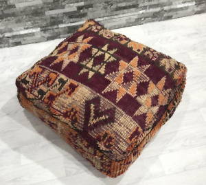 Old Boujaad Pouf Moroccan Berber Pouf