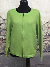 Coldwater Creek Green Shirt Jacket Zip front Long Sleeve Large #C
