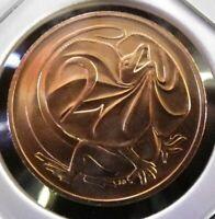 """1 AUSTRALIA""""RARE""""ND-1985""""2 Cent UNC Specimen Coin Ex-RAM UNC Set,VeryLow-Mintage"""