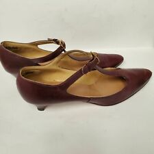 Margaret Jerrold Vintage Mary Jane Shoes in Box Size 7.5Aaa Oxblood