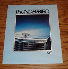 Original 1981 Ford Thunderbird Sales Brochure 81 Heritage Town Landau