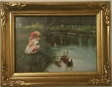 MORNING DISCOVERY DONALD ZOLAN FRAMED LITHOGRAPH NUMBERED PRINT PEMBERTON & OAKS