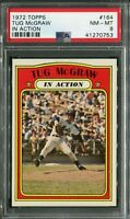 1972 Topps #164 Tug McGraw In Action PSA 8 NM-MT