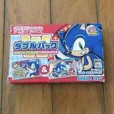 New Sonic Pinball Party & Sonic Battle Double Pack Game Boy Advance  Japan ##Cw
