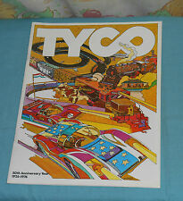 original 1976 TYCO TOYS dealers' trade CATALOG advertisement slot cars trains