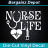 Vinyl Decal .. NURSE LIFE .. Nursing Medical NP RN LPN CNA Car Laptop Sticker