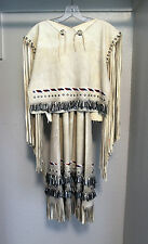 Handmade Navajo Leather Dress Beaded Ceremony Native American Tribal Indian