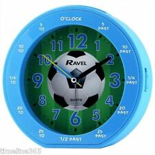 Ravel Garçons Time-Professeur Football Bleu assez Sweep réveil et snooze RC007.6C