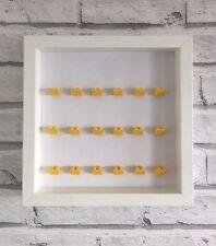Mini Figures White Display Case Frame Yellow Lego Brick Series 17 16 15 14 13 12