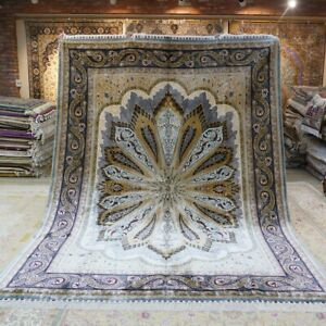 YILONG Green Handmade Sik Rug All Size Available Peacock Design Luxury Carpet