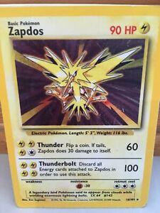 Pokemon Card Zapdos, 16/102 Holo
