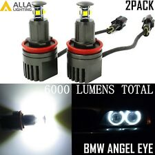 Alla Lighting 2x40W H8 CREE Error Free LED BMW Halo Ring Angel Eyes Marker Light