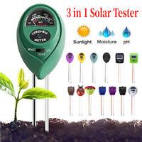 3 in 1 Soil Tester Moisture Sunlight PH Meter Plants Moisture Measuing Tool