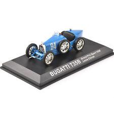 1/43 Blue Bugatti T35B Grand Prix Sport 1928 Louis Chiron  Diecast Car Model