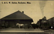 Rochester MN C&GW RR Train Station Depot c1910 Postcard