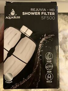 NEW AquaBliss Rejuvia HD High Output Shower Filter SF500 Heavy Duty Purification