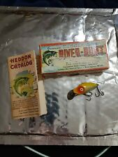 VINTAGE HEDDON MIDGIT DIGIT RIVER RUNT FISHING LURE 9020 XRY WITH BOX N CATALOG