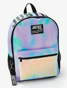 Girls Justice Dye Effect Stars Backpack NWT🖍📚