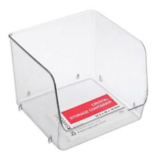 3x Boxsweden Crystal Stackable Storage Container 22cm Fridge/pantry Organiser