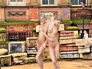 Jack Kerouac With 2 Nude Women 18X24 Poster