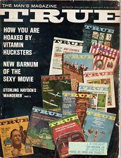 Jan 1964 TRUE Magazine for Men Vitamin Hoaxes circus freaks Sterling Hayden