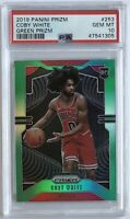 2019 Coby White Panini Prizm #253 GREEN PRIZM Rookie RC PSA 10 Low Pop - Invest