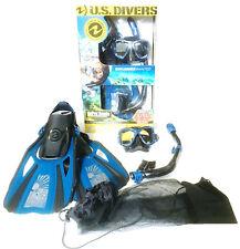 NEW US Divers Adult/Kid Snorkeling/Snorkelling Set Mask+Snorkel+Fins GoPro Ready