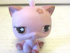 Littlest Pet Shop Pink Flower Short Hair Kitty Cat #603 Pink Flower Eyes LPS