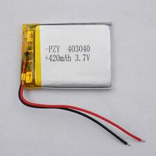 3.7v 420 mah Polymer Li ion Lithium pack 403040 for mp4 bluetooth pen GPS camera
