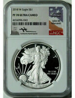 2018 W $1 Silver Eagle NGC PF70 Ultra Cameo Mercanti Signed