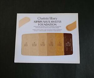 Charlotte Tilbury Airbrush Flawless Foundation Sample Card Shade3,4,5.5,7.5,9,16
