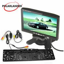 "7"" DVD VCR Monitor Wireless transmitter EU Licence Plate Frame Reversing Camera"