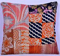 Indien Coton Coussin Réversible Housse Kantha Patchwork Décor 40.6cm Taie