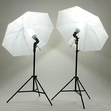 Kit Eclairage Continu Photo Studio 2 x Parapluie + 2 x 45W Ampoule + 2 x Trépied