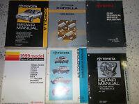 1999 TOYOTA COROLLA Service Repair Shop Manual FACTORY DEALERSHIP BOOK 6 BOOKS