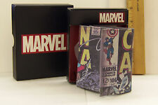 Captain America Tri-Fold Leather Wallet  RGA Leatherworks NEW in box  B