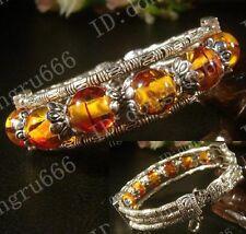 Hot! Beautiful Handmade Tibetan Silver Bracelet Tibet Lucky Beads Bangle AAA208